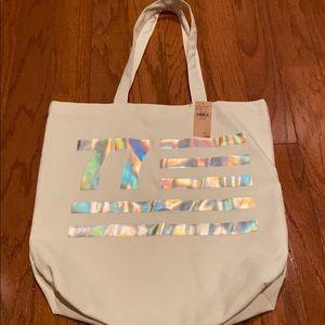White AE tote bag